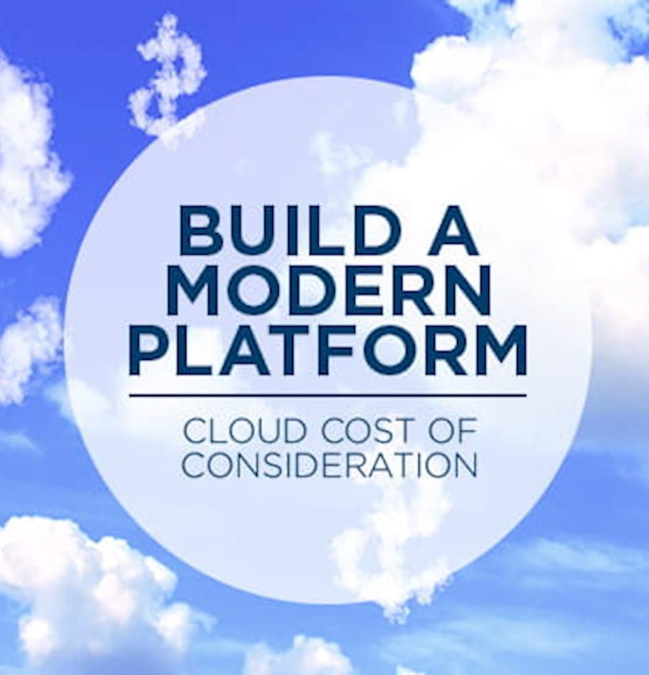 Cloud cost considerations