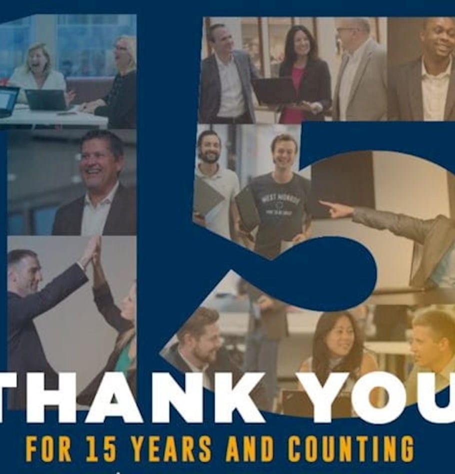 Living the entrepreneurial dream: Celebrating 15 years in business