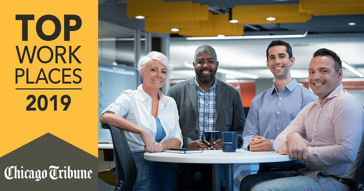 Chicago Tribune Top Workplaces 2019 people smiling