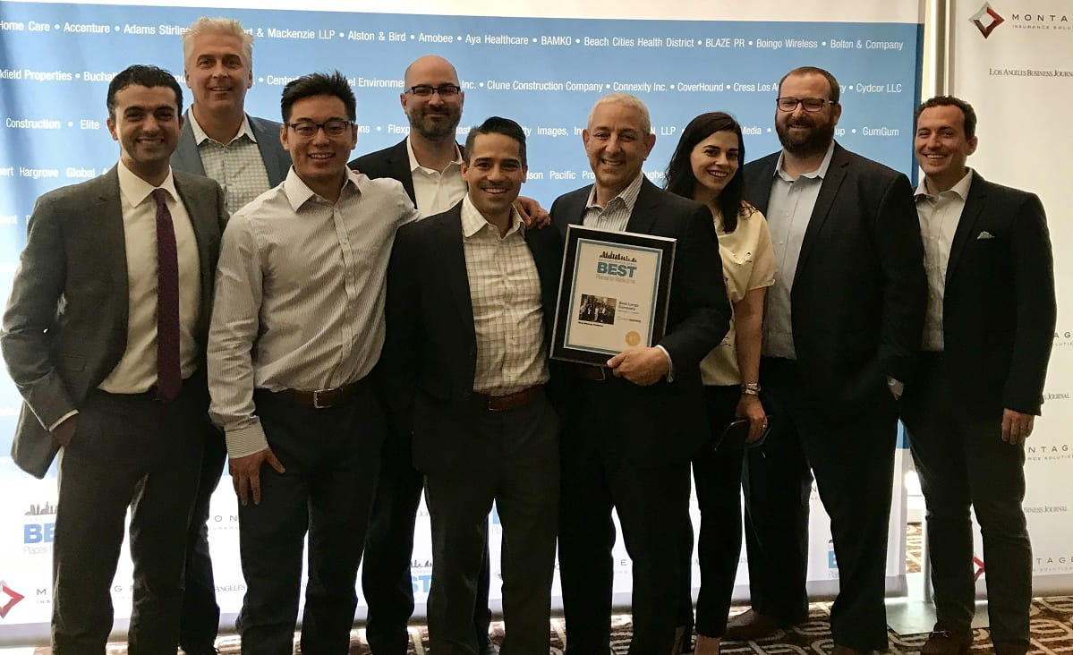 2018 Los Angeles Business Journal Best Place to Work