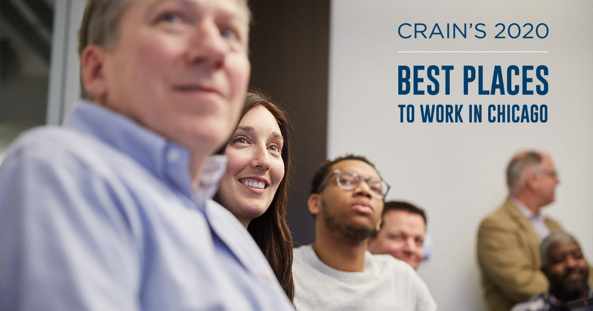 Crain's Chicago Business names West Monroe one of the 2020 Best Places to Work in Chicago